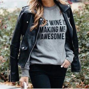 Wine Classic Crew Neck Sweatshirt s / m